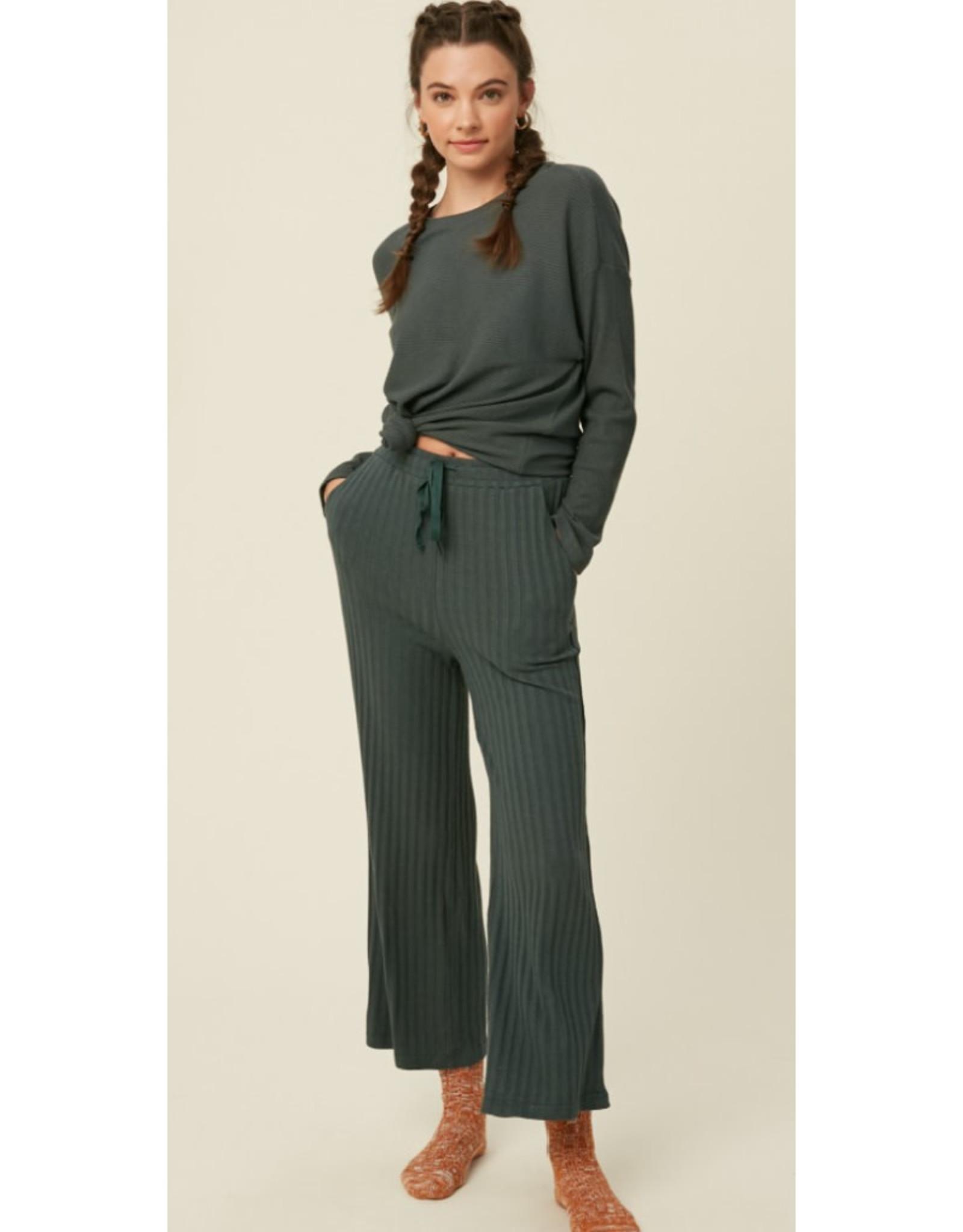 Ribbed Knit Lounge Pant