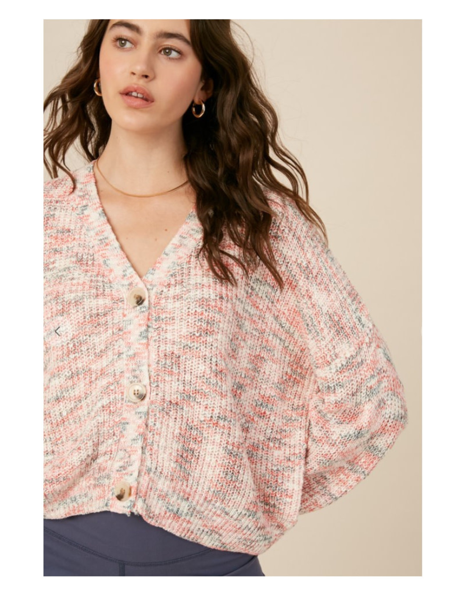 Lightweight Cropped V-Neck Cardigan
