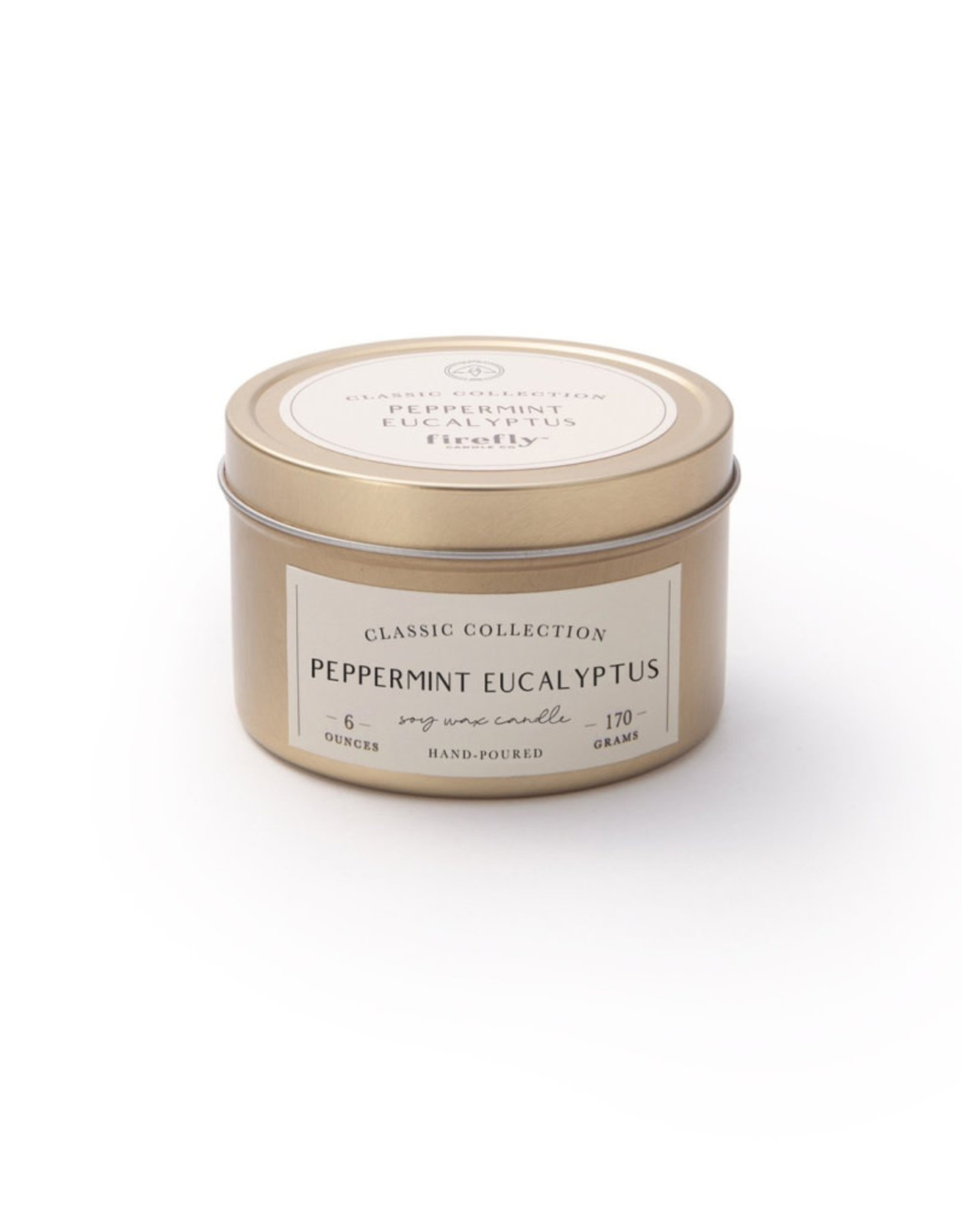 Firefly Classic Candle Tin - Peppermint Eucalyptus 6 oz.