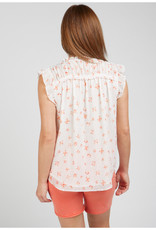 Sleeveless Top with Smocked Shoulders