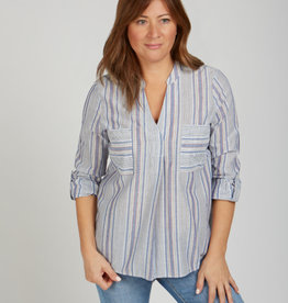 Stripe Pullover Tunic with Pockets