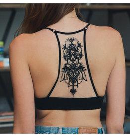 Tattoo Mesh Racerback Bralette