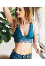 Plunging Bralette with Alencon Lace