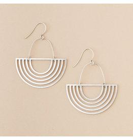 Silver Solar Rays Earrings
