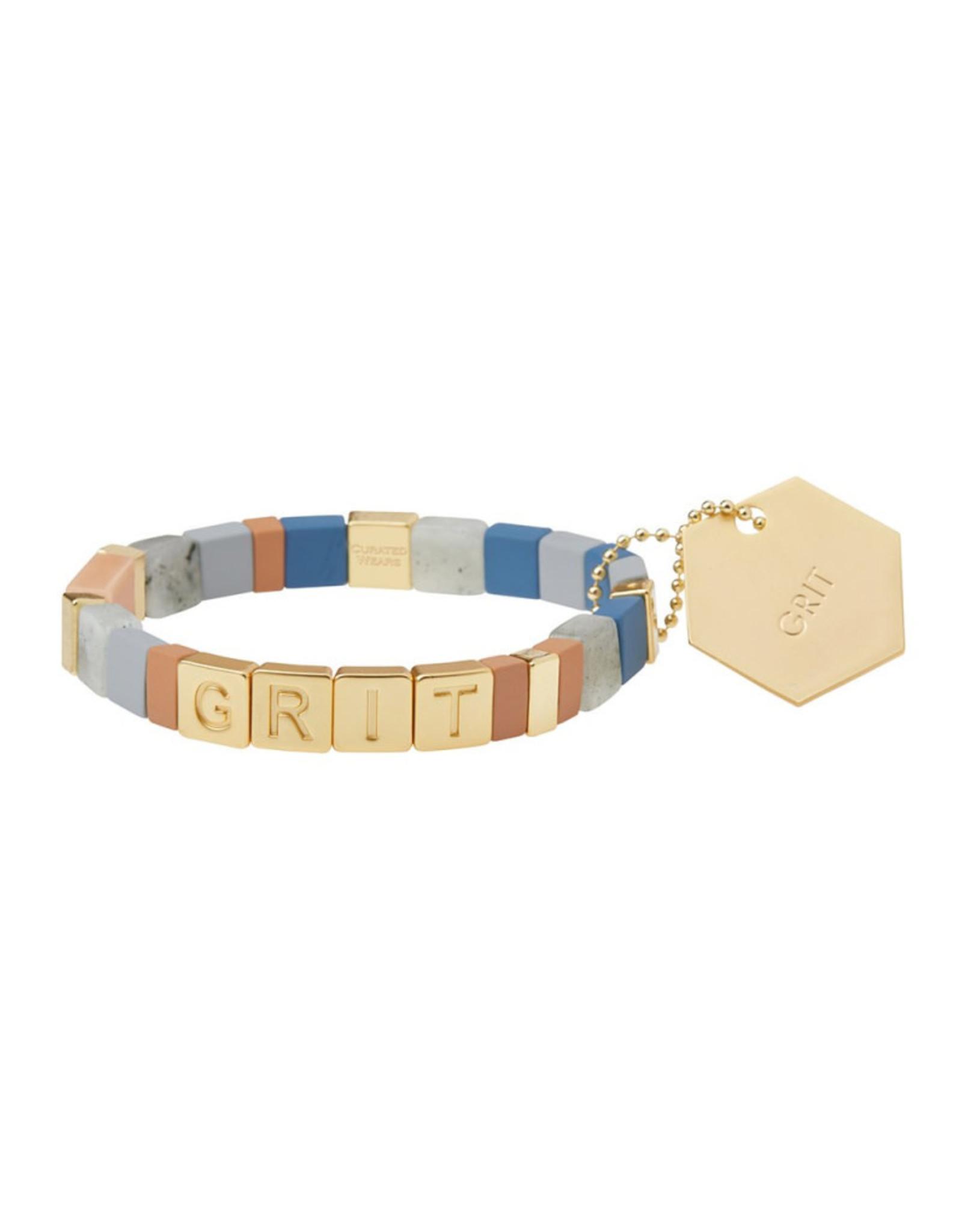"Empower Bracelet - ""Grit"" - Gold/Labradorite/Sunstone"