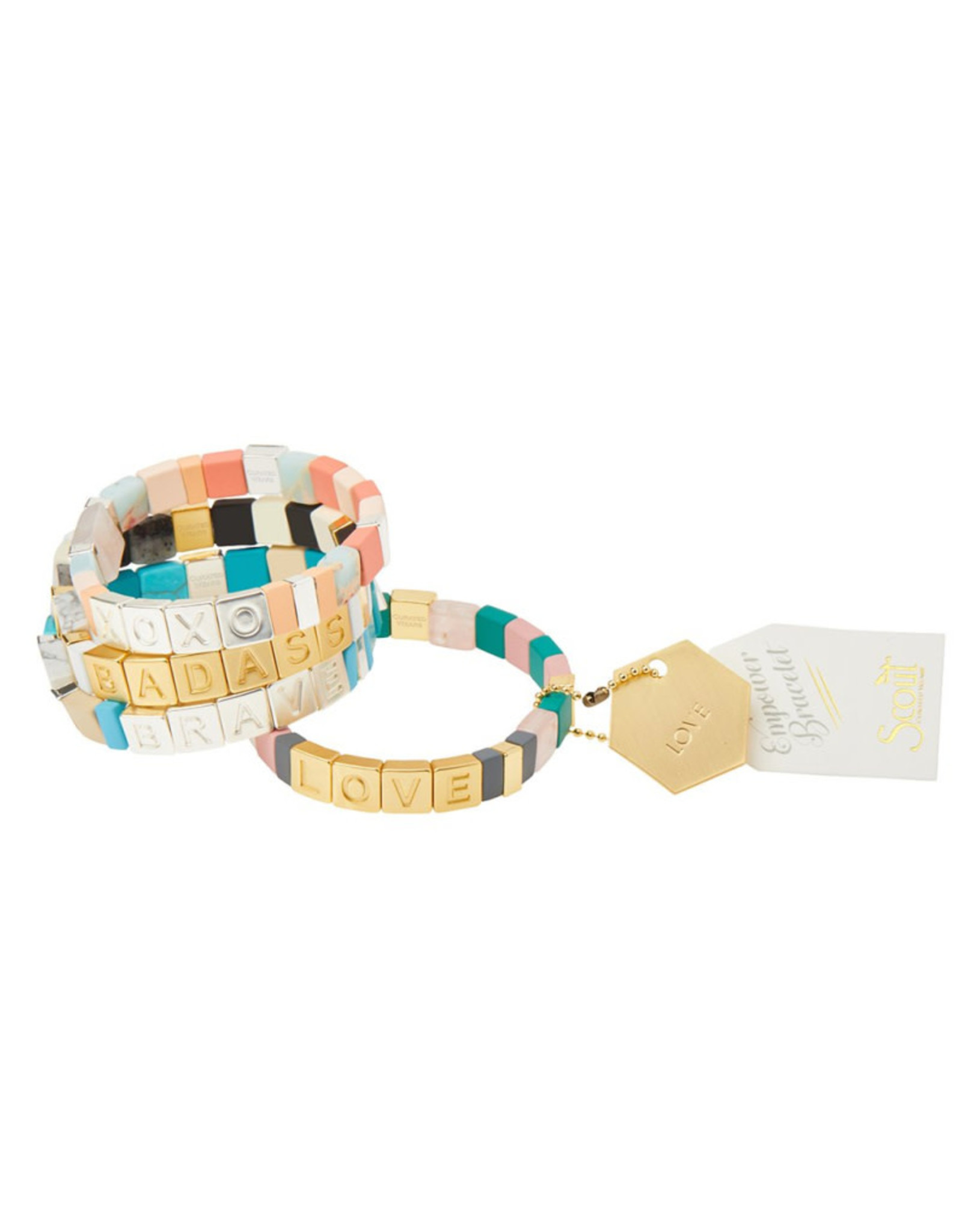 "Empower Bracelet - ""Grit"" - Silver/Labradorite/Sunstone"