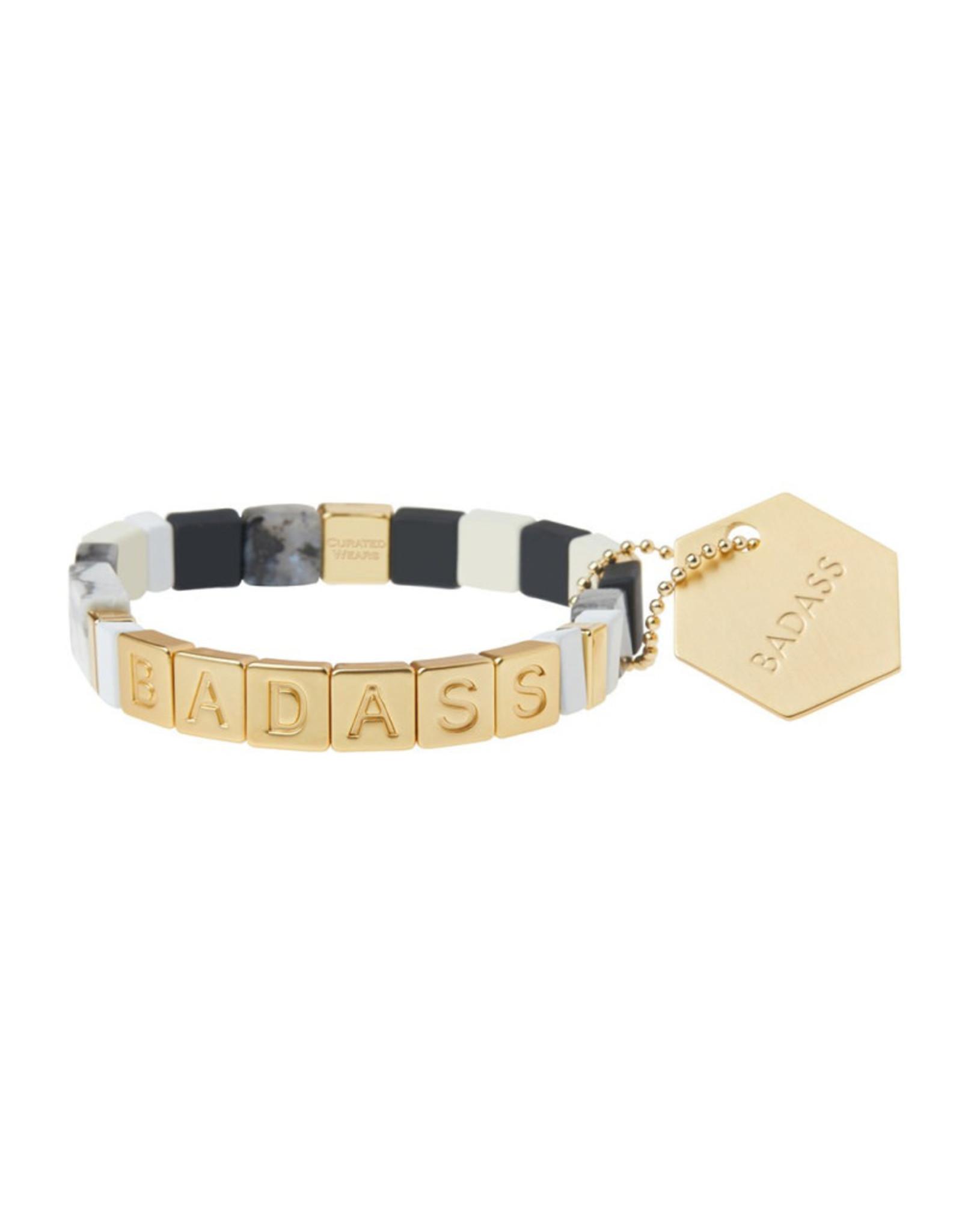 Empower Bracelet - Gold/Black Labradorite/Howlite