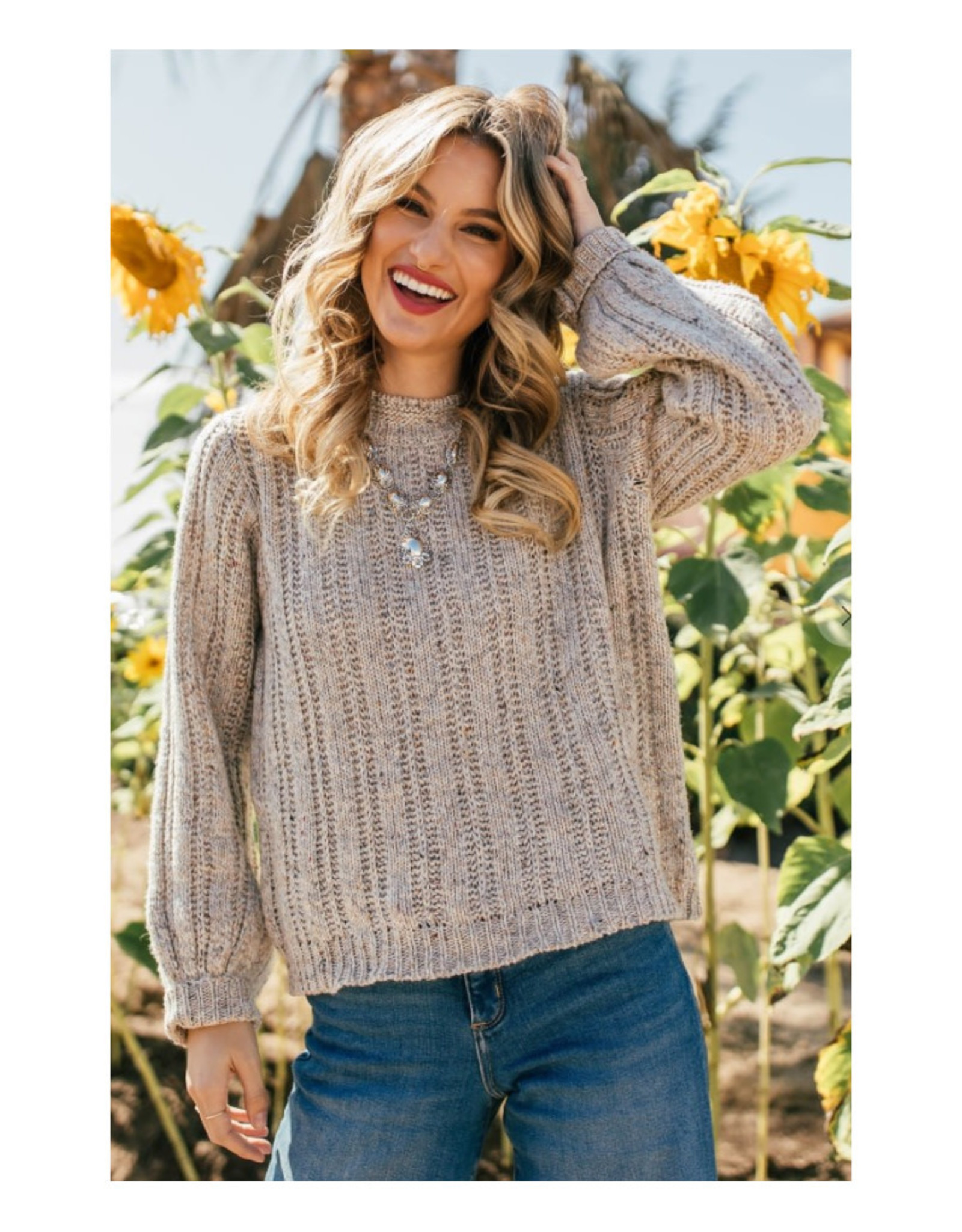 Ladder Stitch Pullover Sweater