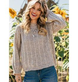 Ladder Stitch Pullover Sweater