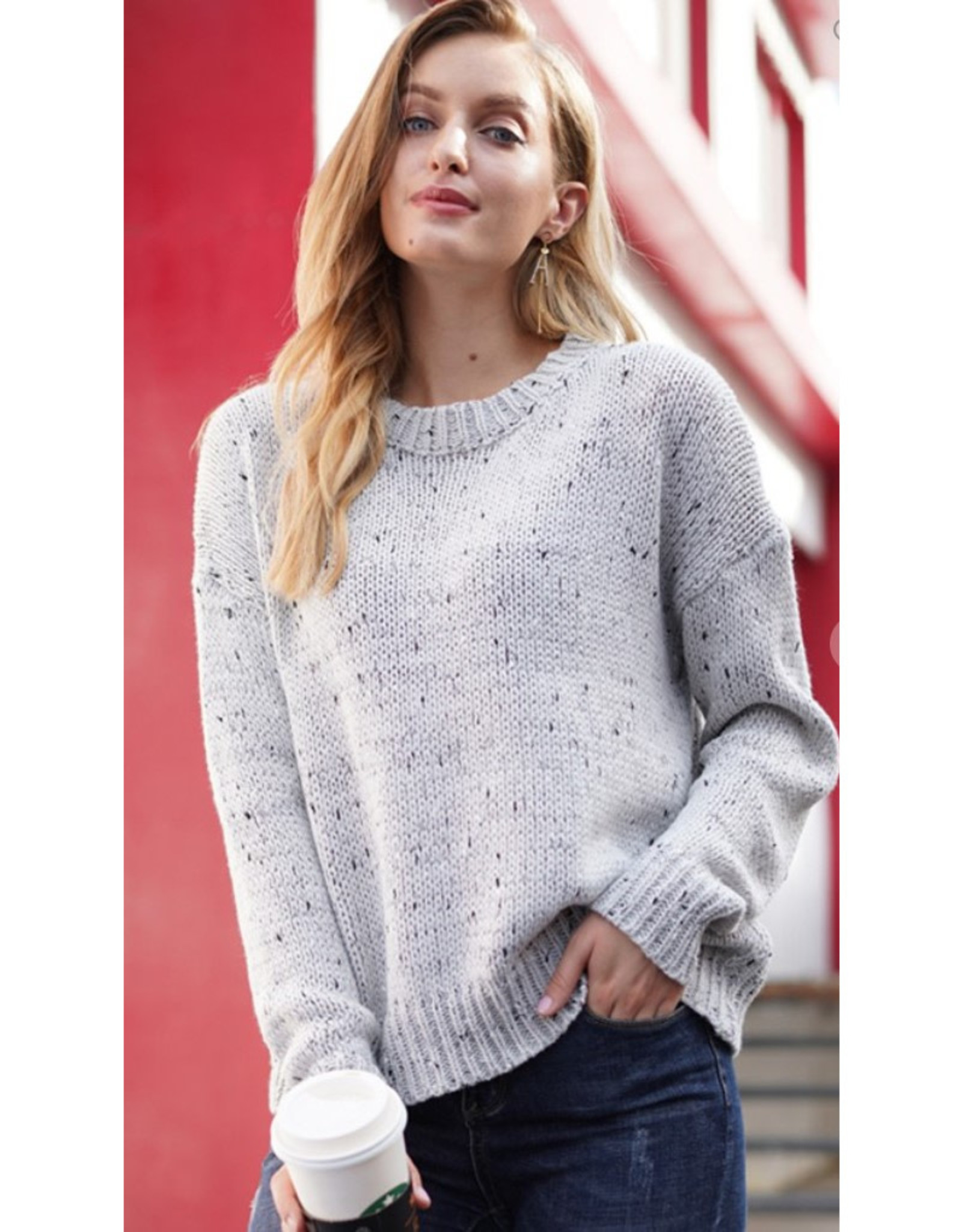 Oversized Tweed  Sweater