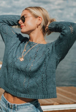Cropped Pointelle Sweater