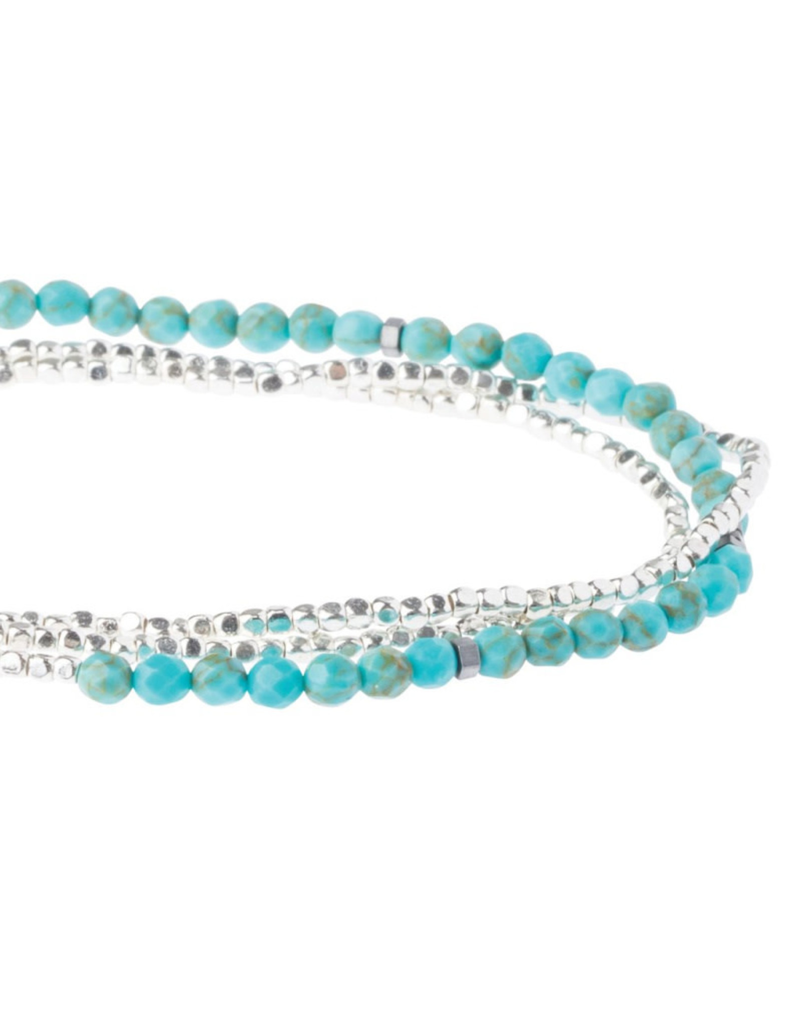 Scout Delicate Wrap -  Turquoise/Silver