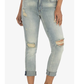Catherine High Rise Boyfriend Jeans with Rolled Cuffs