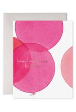 """Pink Balloons"" Birthday Card"