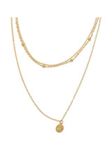 Layered Chain Hope Necklace