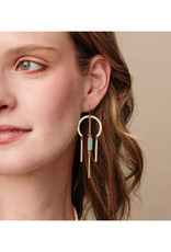 Scout Dream Catcher Earrings - Rose Quartz/Gold
