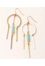 Scout Dream Catcher Earrings - Turquoise/Gold