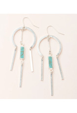 Scout Dream Catcher Earrings - Turquoise/Silver