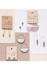 Scout Prism Hoops - Rose Quartz/Gold