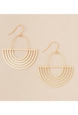 Solar Rays Earrings - Gold Vermeil