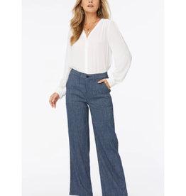 High Waist Wide Leg Ankle Jeans