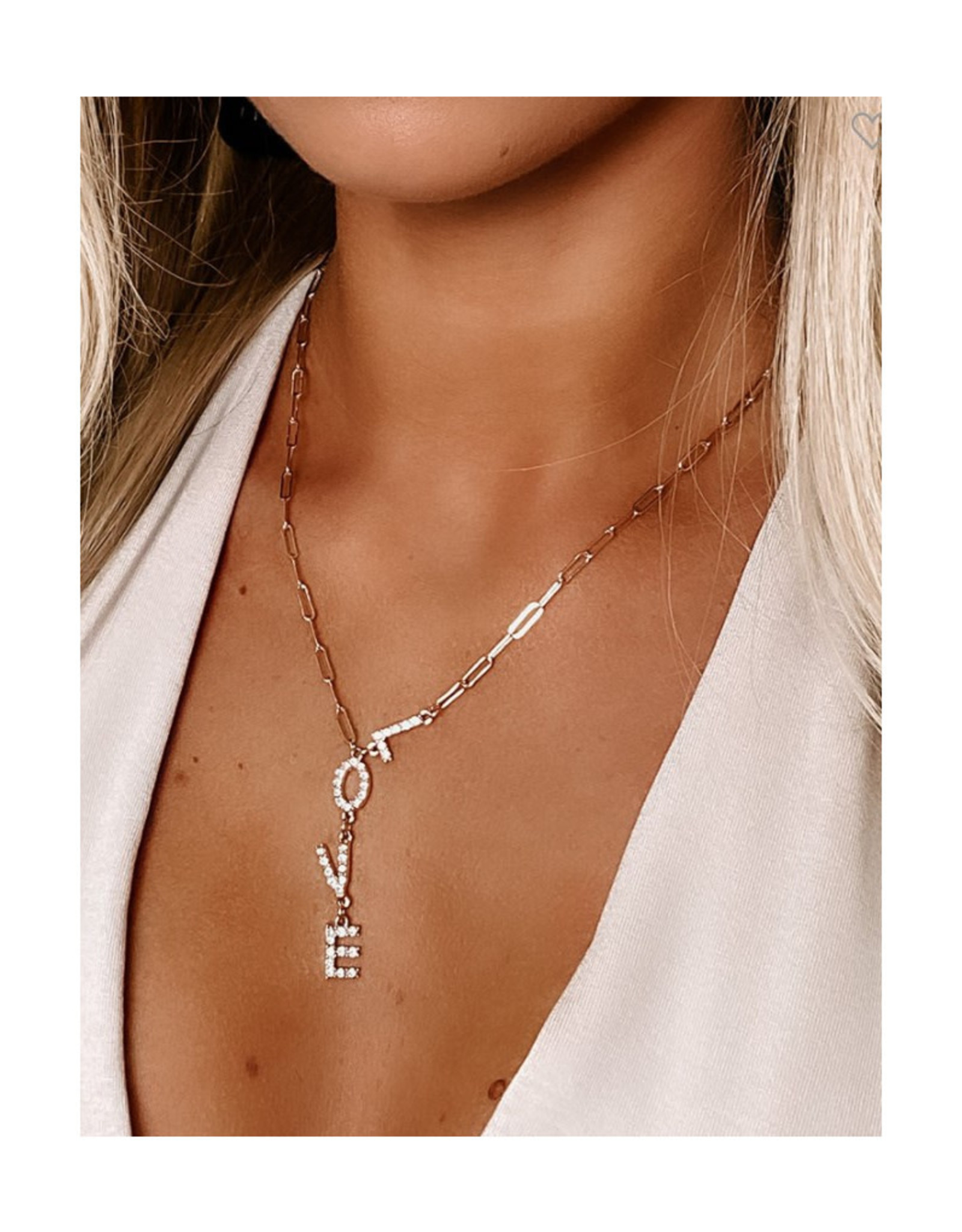 Love Lariat Necklace