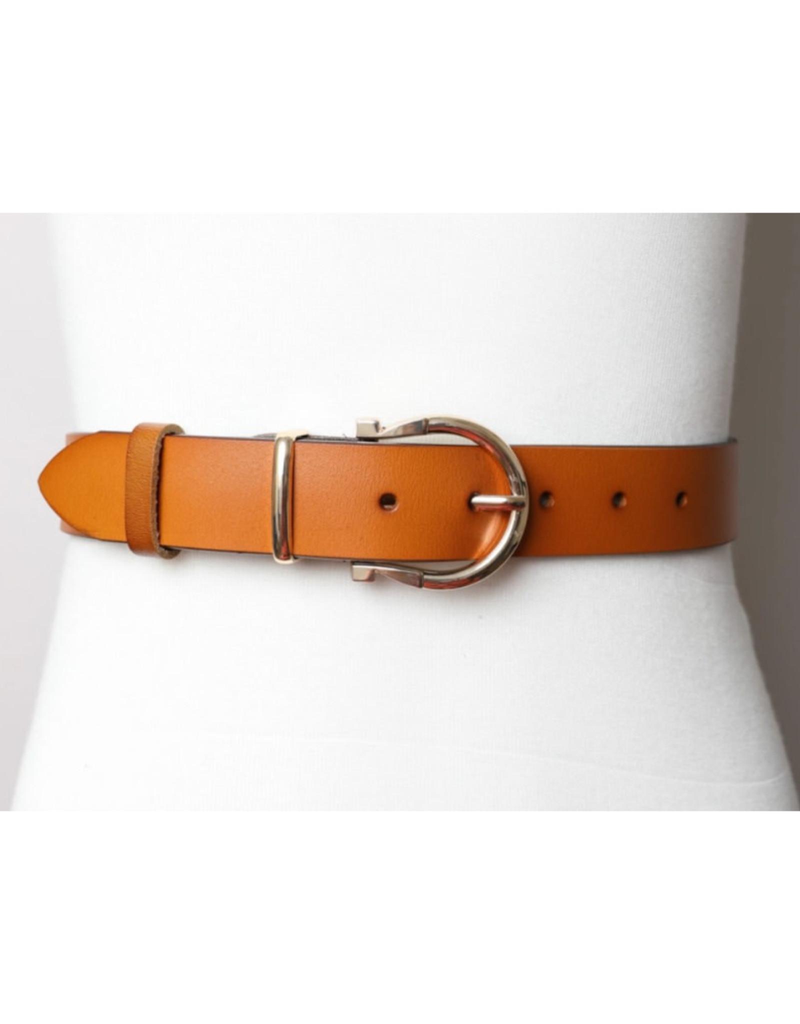 Horseshoe Belt with Gold Buckle