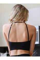 Seamless Cropped Bralette in Black