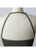 Seamless Cropped Bralette in Olive