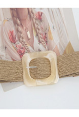 Woven Straw Belt - Natural