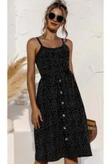 Polka Dot Mini Dress - Black