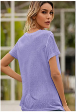 Surprise Basic V-Neck Tee - Lavender
