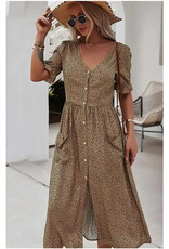 Animal Pint Midi Dress