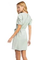 Mini Dress with Tie  Belt