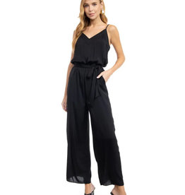 Strappy Cami Jumpsuit with Banded V-Neckline