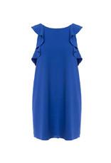 Ruffle Sleeve V-Back Dress - Capri Blue