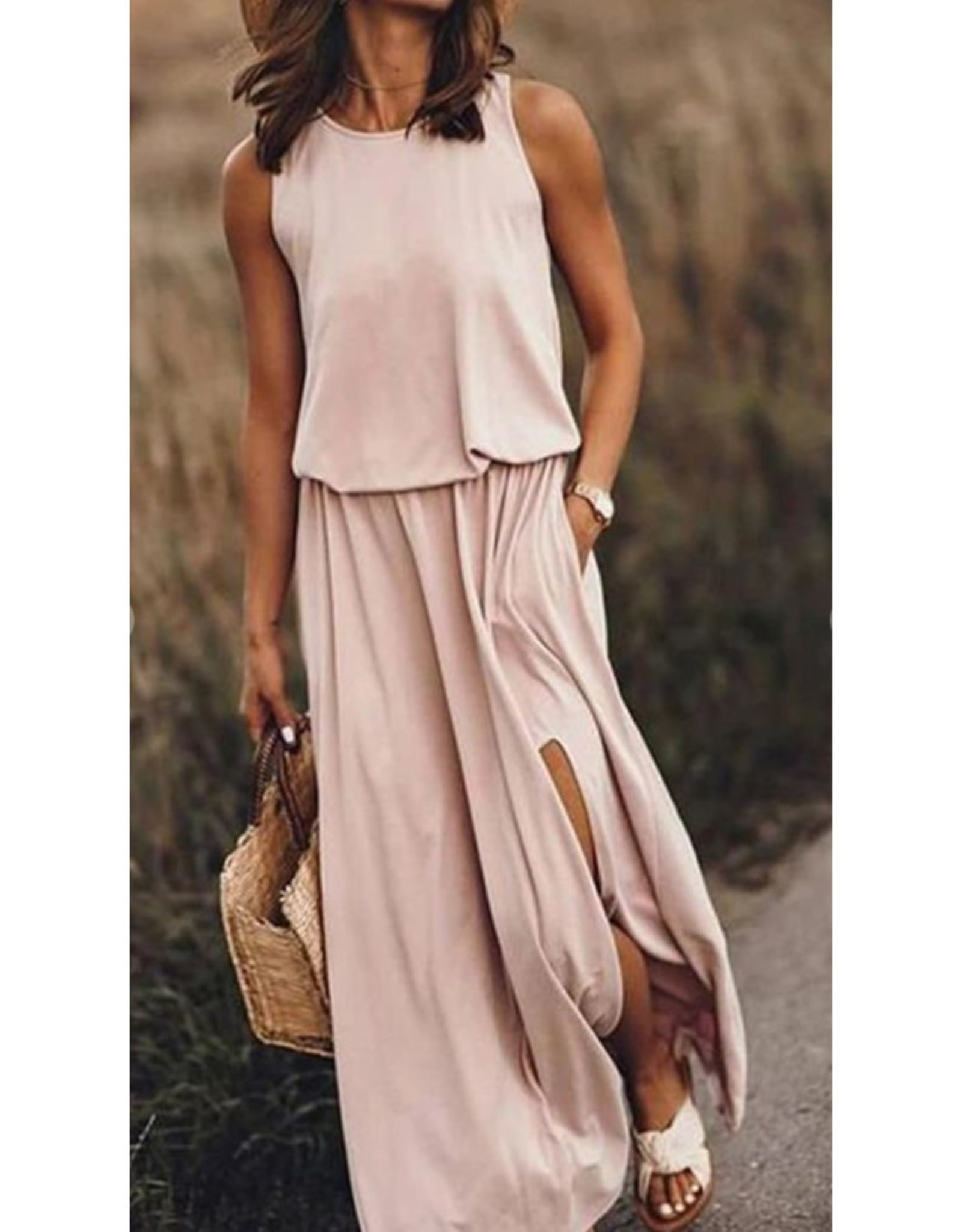 Maxi Dress with Front Slit