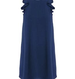 Flutter Sleeve Dress - Navy
