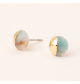 Scout Dipped Studs Amazonite/Gold - ES008