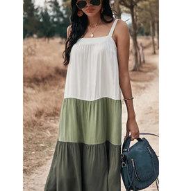 Tiered Ruffle Midi Dress - 49893DDY