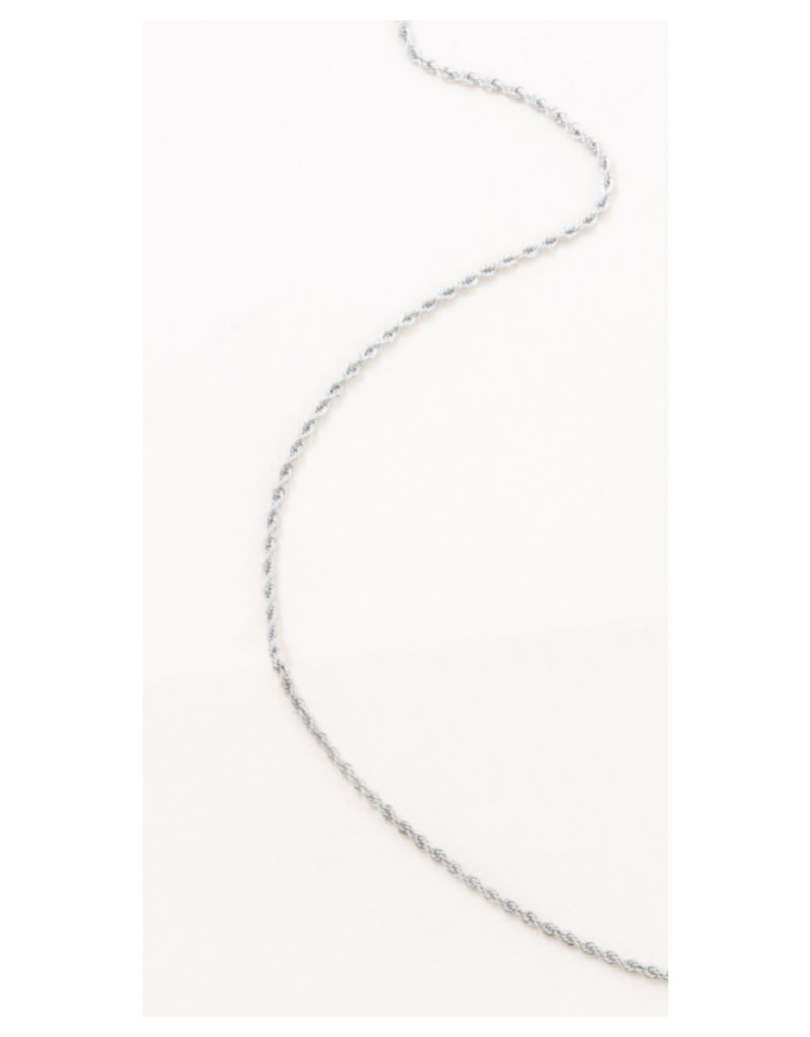 Classic Twisted Rope Chain - Silver