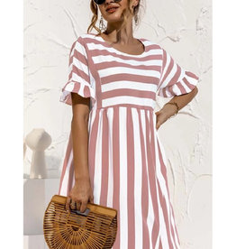 Stripe Babydoll Dress
