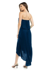 Comfy Tube Dress with High-Low Ruffle Hemline