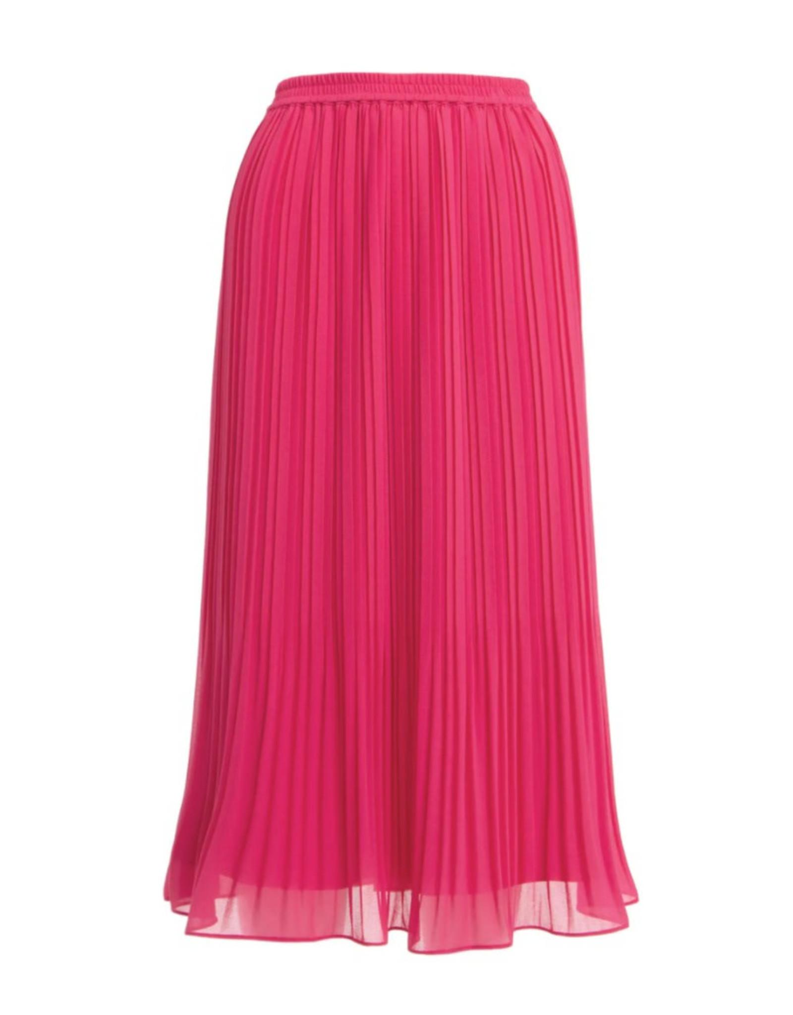 Pleated Midi Skirt - Pink Sorbet