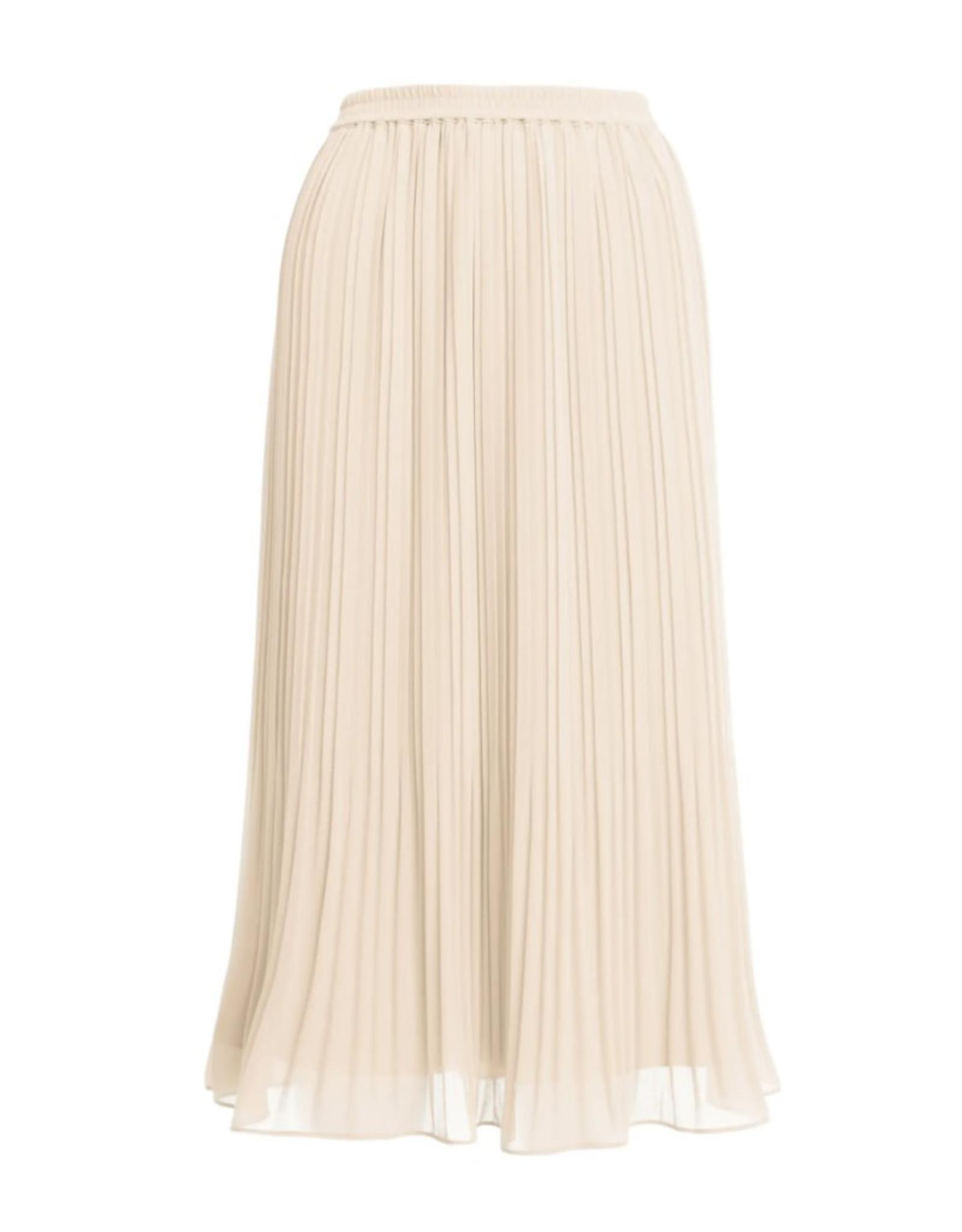 Pleated Midi Skirt - Papyrus