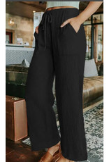 Casual Drawstring Wide Leg Pant