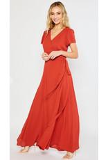 Flowy Maxi Wrap Dress