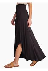 Bamboo Maxi Skirt with Smocked Elastic Waist