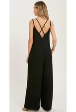 Jumpsuit with Criss-Cross Strappy Back