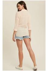 Striped Knit Burnout Shirt